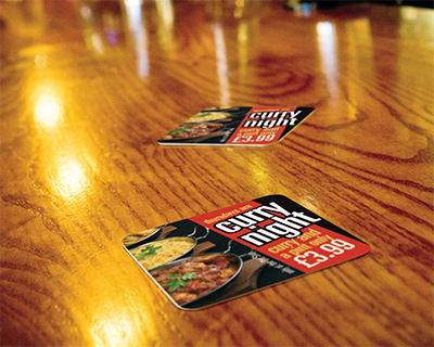 Design & Print Beer Mats in Weston-super-Mare & Bristol