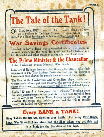 Before-WW1 War Savings Bag